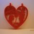 Valentine's day - Heart pendant print image