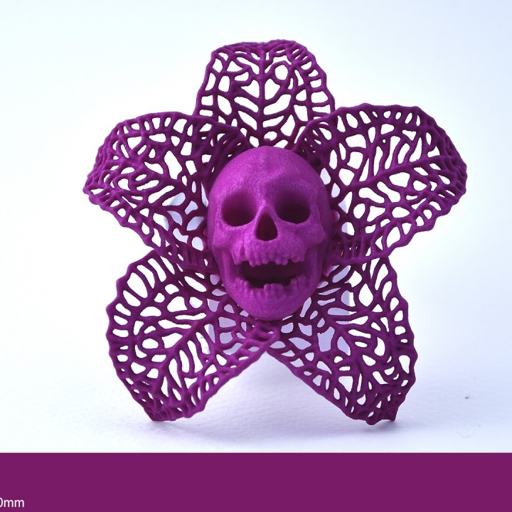 Picture of print of Skeletal Flower Pendant Questa stampa è stata caricata da James Morgan
