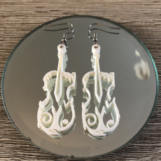 Picture of print of Violin Earring