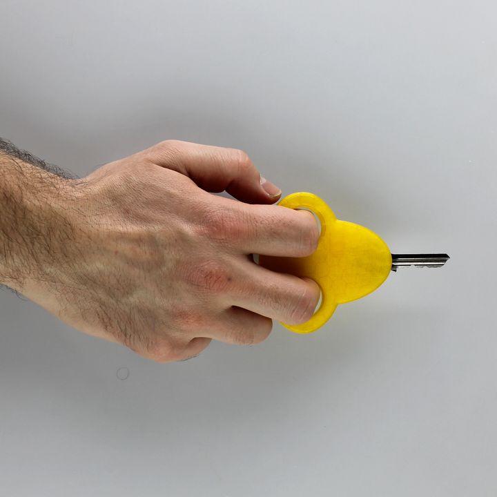 Key holder with holes