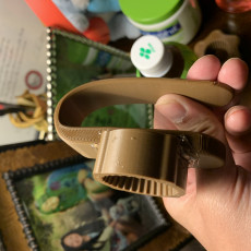 Picture of print of plastic bottle opener for hand support