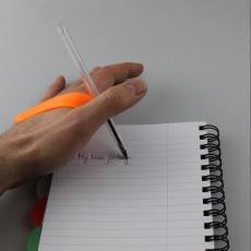 Pen holder for hand support