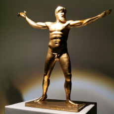 Picture of print of The Artemision Bronze at The National Archaeological Museum in Athens, Greece