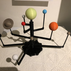 Picture of print of Model Solar System