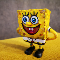 Picture of print of The funny Sponge Bob - Keychain/pendant