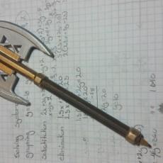 Picture of print of Gimli's Battle Axe - Ballpoint Combat Pen