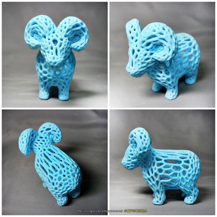 Voronoi Style - Sheep