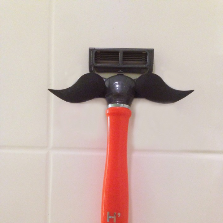 Mustache razor holder