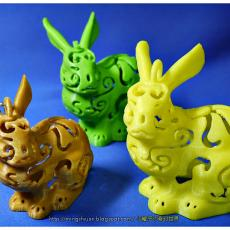 Bunny Lamps carved