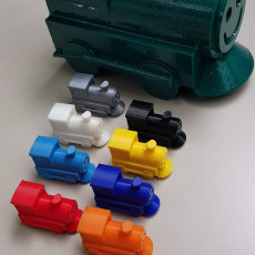 Picture of print of Mexican Train Domino Game Markers