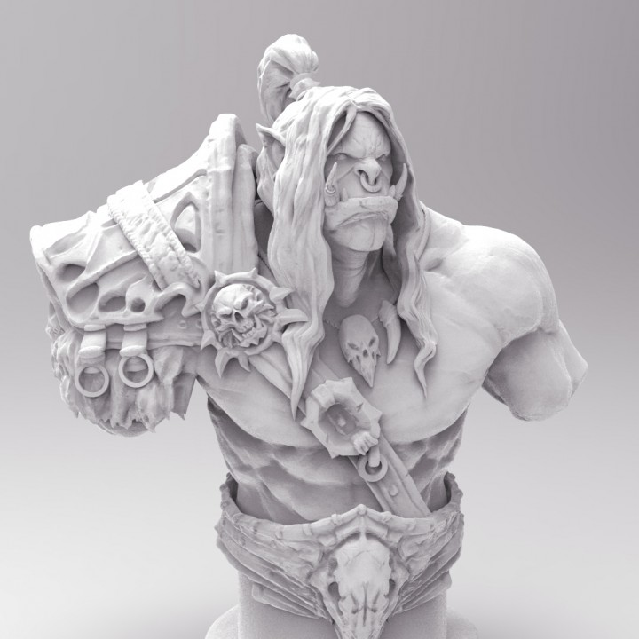 Grommash Hellscream Bust (World of Warcraft)
