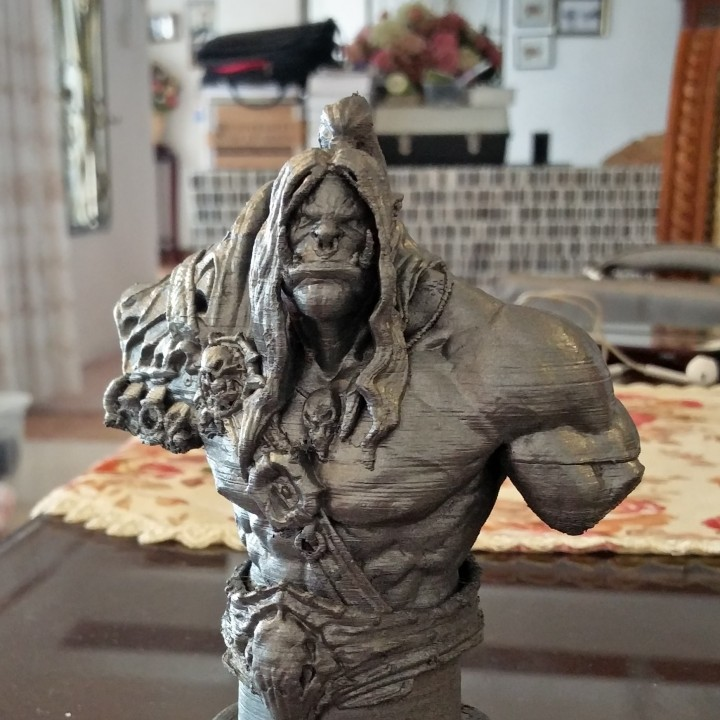 Picture of print of Grommash Hellscream Bust (World of Warcraft) This print has been uploaded by Alexander Ross