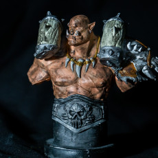 Picture of print of Garrosh Hellscream Bust (World of Warcraft)