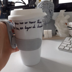Picture of print of Paper cups holder for hand support