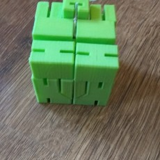 Picture of print of SMALL CUBE ROBOT