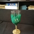 Nutella Wine Glass - Get fat then get drunk print image