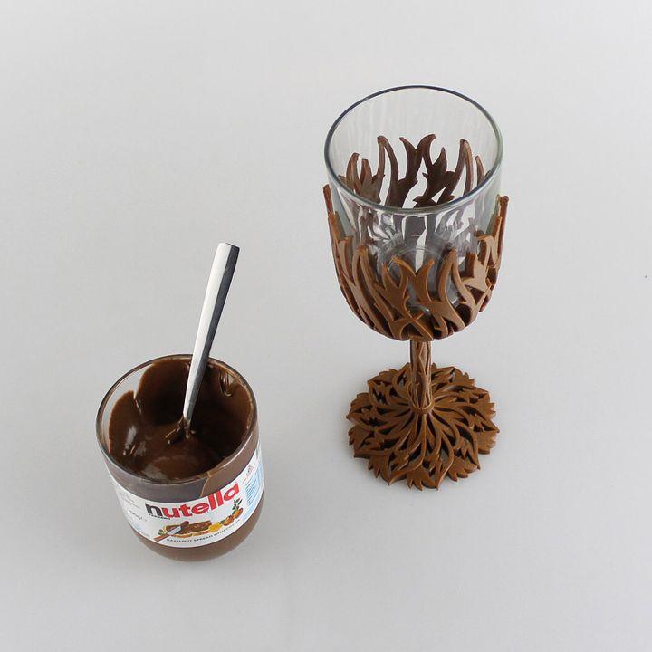 Nutella Wine Glass - Get fat then get drunk