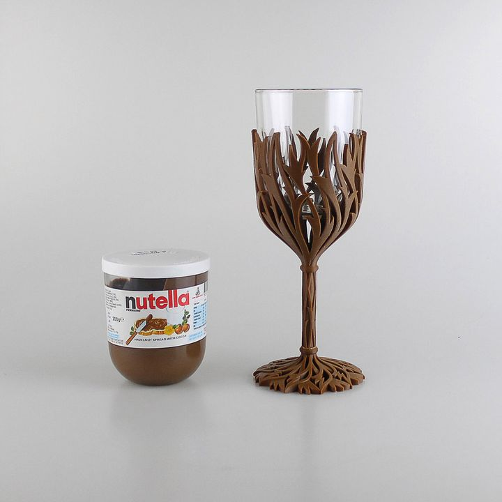 picture regarding Printable Glassware titled 3D Printable Nutella Wine Gl - Purchase pounds then just take drunk as a result of