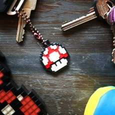 Picture of print of 3x Mushroom Mario- Keychain- Underglass This print has been uploaded by Panospace