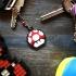 3x Mushroom Mario- Keychain- Underglass print image