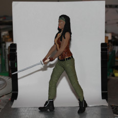 Picture of print of Michonne from The Walking Dead