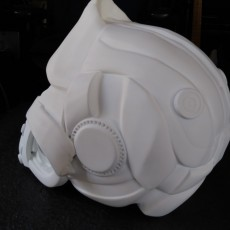 Picture of print of Gorilla Ghost Mask wearable