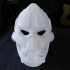 Gorilla Ghost Mask wearable print image