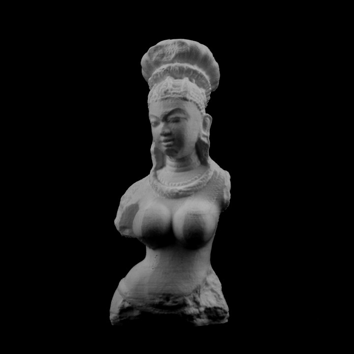 Bust of a female deity at the Metropolitan Museum of Art, New York, USA