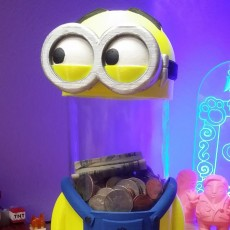 Picture of print of MINION Money / Tip Box