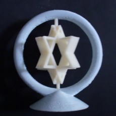 Picture of print of Spinning Jewish Stars