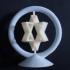 Spinning Jewish Stars print image