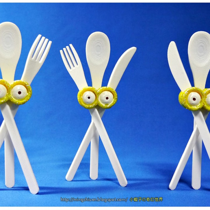photo relating to Minions Eyes Printable named 3D Printable Minions eyes-Cutlery fastened through MingShiuan Tsai