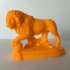 Lion in Florence, Italy print image