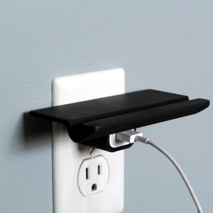 Wall Outlet Shelf