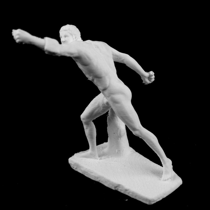 Gladiateur Borghese at the Louvre, Paris, France