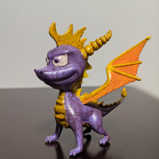 Picture of print of Spyro The Dragon - Retro Game Character