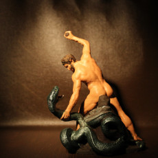 Picture of print of Hercules Fight Achelous Metamorphosed into a Snake at The Louvre, Paris