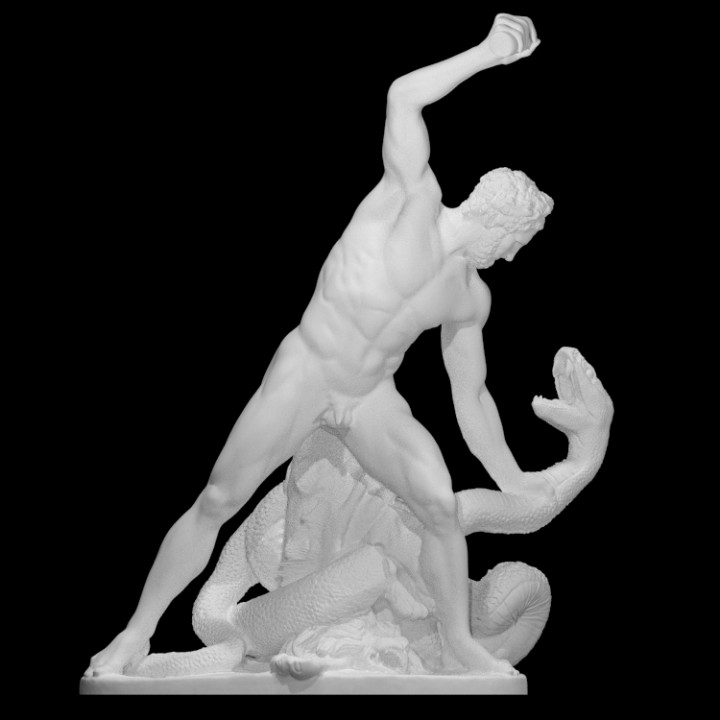 Hercules Fight Achelous Metamorphosed into a Snake at The Louvre, Paris