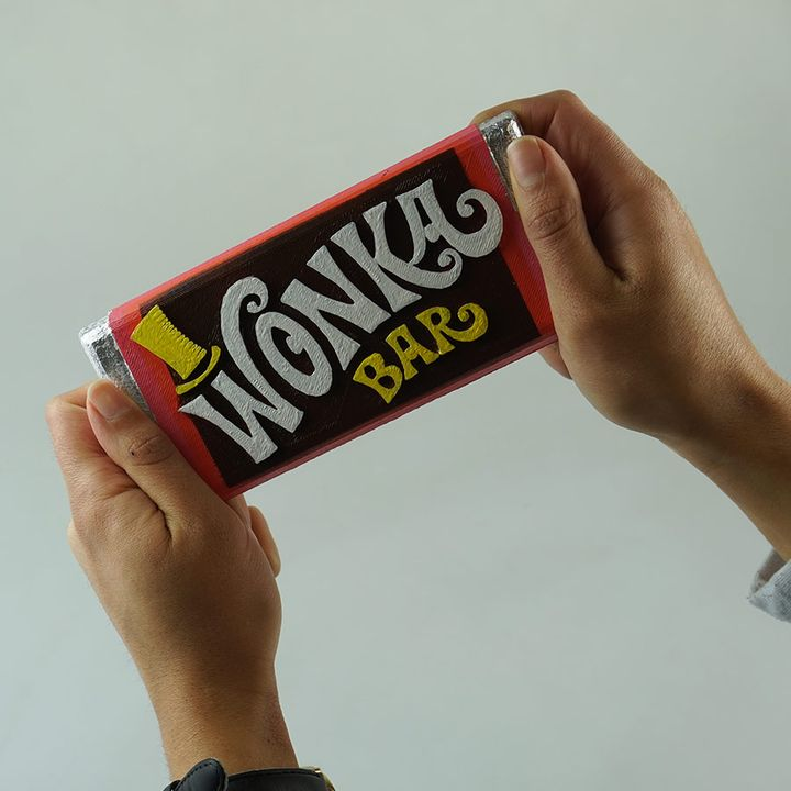 3d Printable Wonka Bar Charlie And The Chocolate Factory