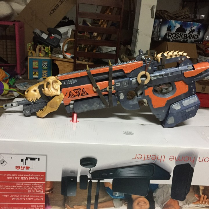 Picture of print of Destiny's Bad Juju exotic pulse rifle This print has been uploaded by Frank Stendal