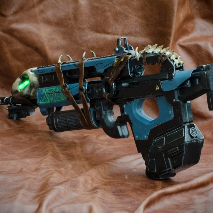 Picture of print of Destiny's Bad Juju exotic pulse rifle This print has been uploaded by Lael Lee