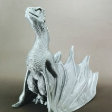 "Picture of print of Drogon From ""Game of Thrones"""