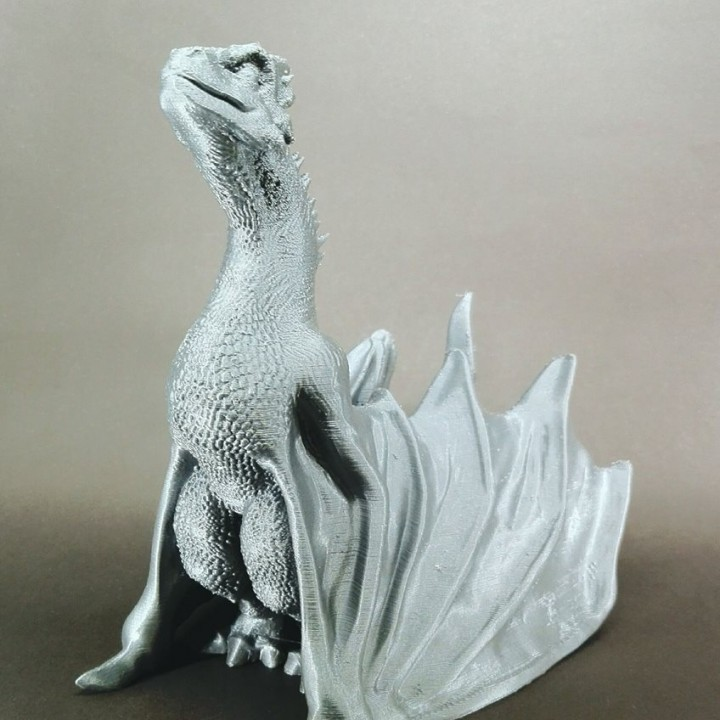 "Picture of print of Drogon From ""Game of Thrones"" This print has been uploaded by Sebastian Cambeses"