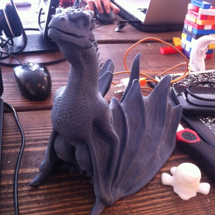 "Picture of print of Drogon From ""Game of Thrones"" This print has been uploaded by Michael Perez"