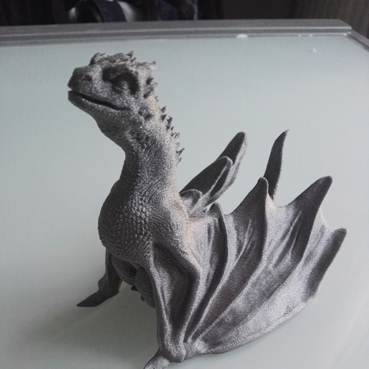 "Picture of print of Drogon From ""Game of Thrones"" This print has been uploaded by Gene Savino"