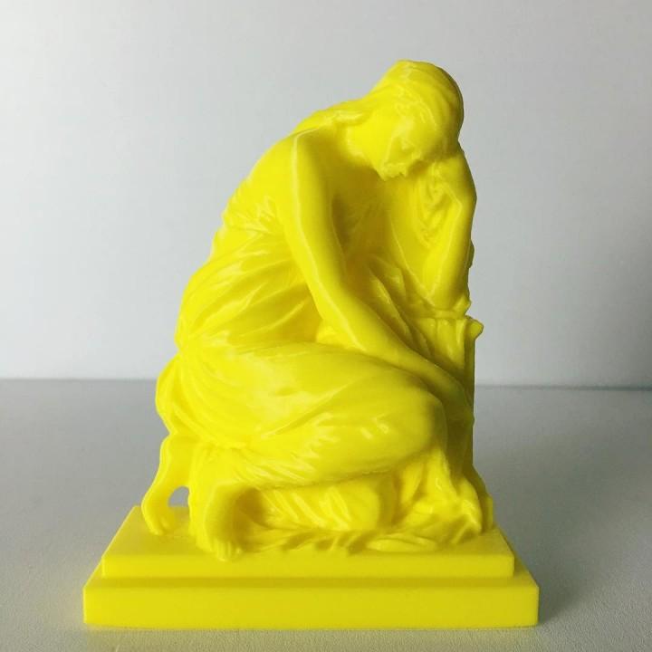 The Suffering 'Pleureuse' at The Louvre, Paris