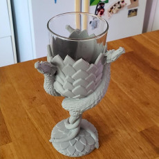 Picture of print of Dragon Wine Glass - House of Targaryen