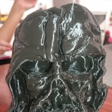 Picture of print of Melted Darth Vader mask from Star Wars Episode 7