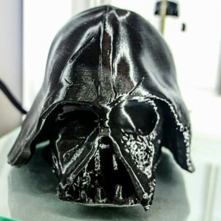 Melted Darth Vader mask from Star Wars Episode 7