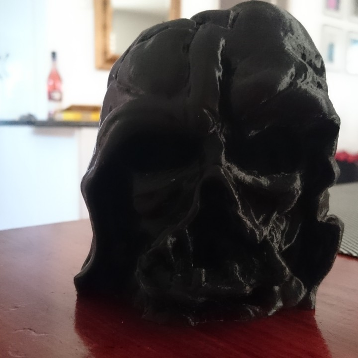 3d printable melted darth vader mask from star wars. Black Bedroom Furniture Sets. Home Design Ideas